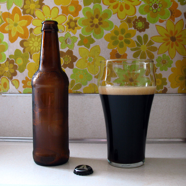 Double Barrel Stout aka The Beerksey, Poured